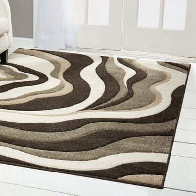 Sumatra Wave Area Rug Rug Size: Rectangle 52 x 72