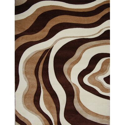 Sumatra Waves Area Rug Rug Size: 78 x 102