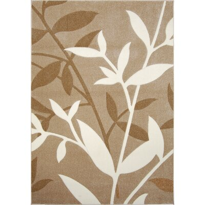 Sumatra Brown Stems Area Rug Rug Size: 52 x 72