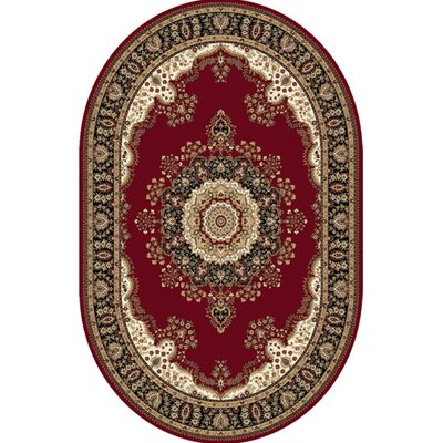 Regency Red Area Rug Rug Size: Oval 66 x 95