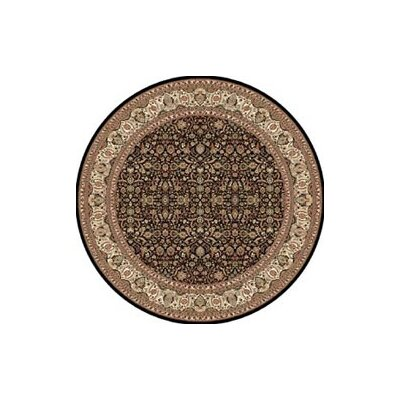 Regency Black Area Rug Rug Size: Round 78