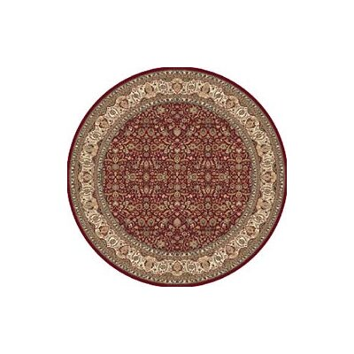 Regency Red Area Rug Rug Size: Round 78
