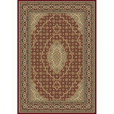 Regency Red Area Rug Rug Size: 92 x 126