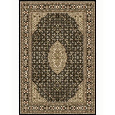 "Regency Black Area Rug Rug Size: Rectangle 5'4"" x 7'8"" 8690 black-(5'4'' x 7'8'')"