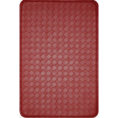 Feel At Ease Geometric Doormat Size: 24 x 36, Color: Red