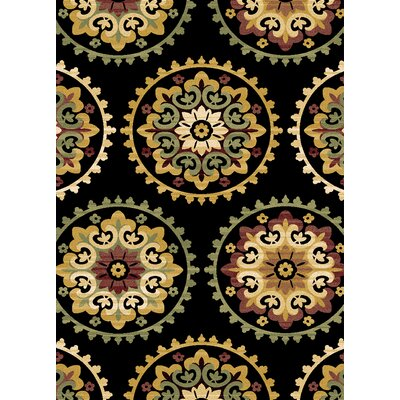 Evolution Black Area Rug Rug Size: 52 x 76