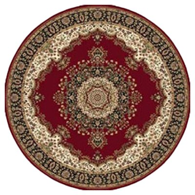 Regency Red Area Rug Rug Size: Round 54