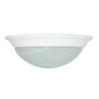 1 Light Flush Mount Finish: White