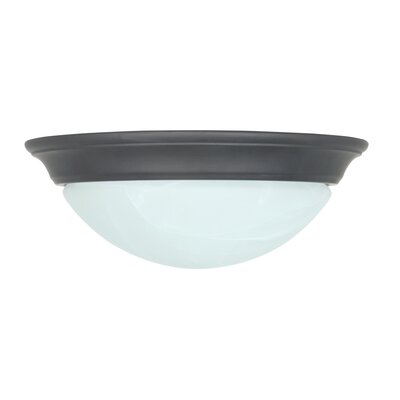 1-Light Flush Mount Finish: Oil Rubbed Bronze
