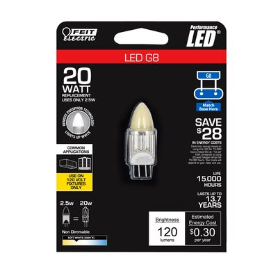 3W Beige 120-Volt LED Light Bulb