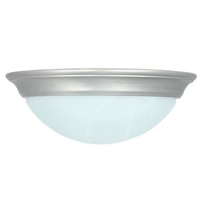 1 Light Flush Mount Finish: Satin Nickel Image