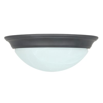 Image of 1 Light Flush Mount Finish: Oil Rubbed Bronze