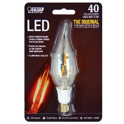 40W 120-Volt Flame Tip LED Light Bulb