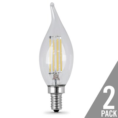 Light Bulb Pack of 2 Wattage: 4.5W, Bulb Temperature: 2700K