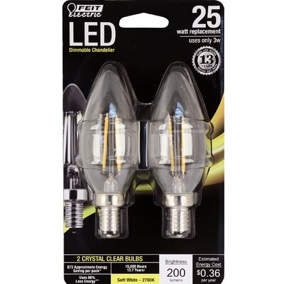 Light Bulb Pack of 2 Wattage: 4.5W, Bulb Temperature: 5000K