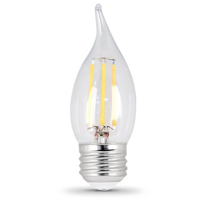 E26 Medium LED Light Bulb Pack Of Two  Bulb Temperature: 2700K, Wattage: 6W