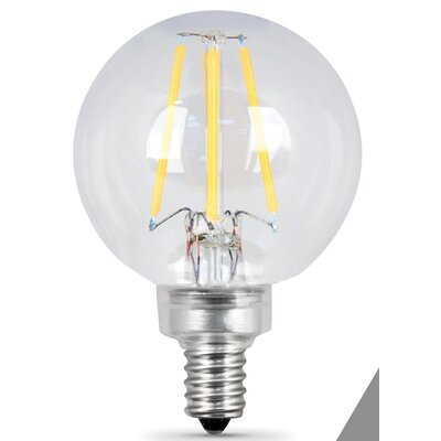 E12 Candelabra LED Light Bulb pack of 2 Wattage: 6W