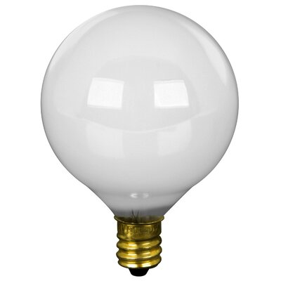 120-Volt Incandescent Light Bulb (Pack of 2) Wattage: 40W, Glass Color: White