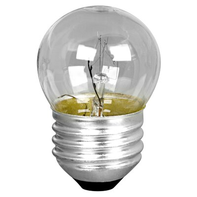 7.5W 120-Volt Incandescent Light Bulb Glass Color: White