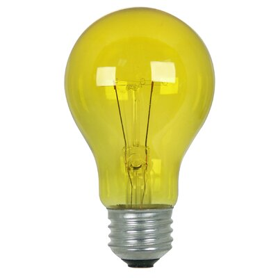 25W Yellow 120-Volt Incandescent Light Bulb