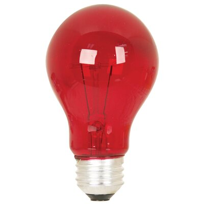 25W Red 120-Volt Incandescent Light Bulb