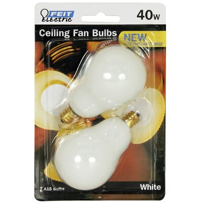 120-Volt Incandescent Light Bulb (Pack of 2) Wattage: 40W