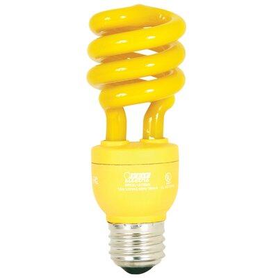 13W Fluorescent Light Bulb Glass Color: Yellow