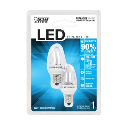 1W 120-Volt LED Light Bulb (Set of 2)