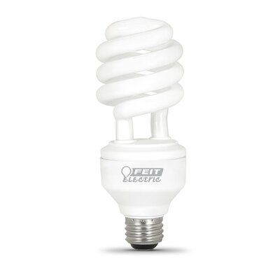 Frosted E26/Medium Compact Fluorescent Light Bulb Bulb Temperature: 6500K
