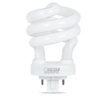 Frosted GX24q-1 Compact Fluorescent Light Bulb Wattage: 13W, Bulb Temperature: 2700K