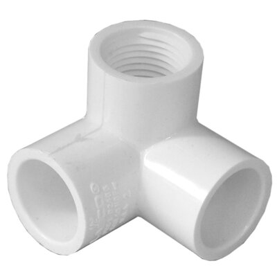 1/2 PVC 90 Elbow with Female Side Inlet