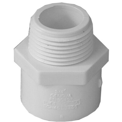 10 Count 3/4 PVC Male Adapter