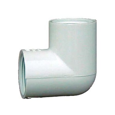 PVC Sch. 40 90 Threaded Elbow (Set of 10) Size: 0.5