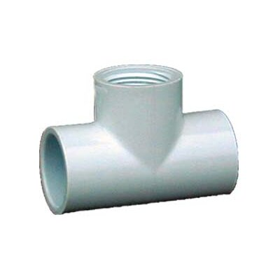 PVC Sch. 40 Female Tees (Set of 10) Size: 0.75
