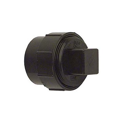 ABS-DWV Fitting Clean-Outs with Threaded Plug Size: 3