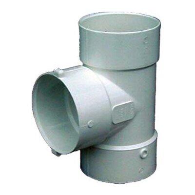 4 PVC Bull Nose Tee