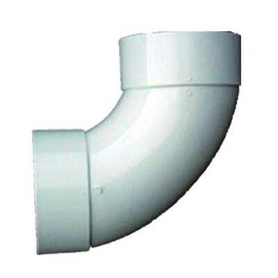 4 PVC 90 Sanitary Elbow