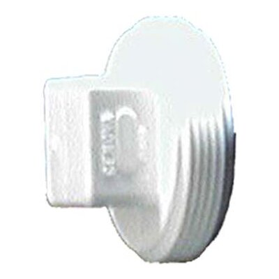 Sch. 40 PVC-DWV Threaded Plugs Size: 4