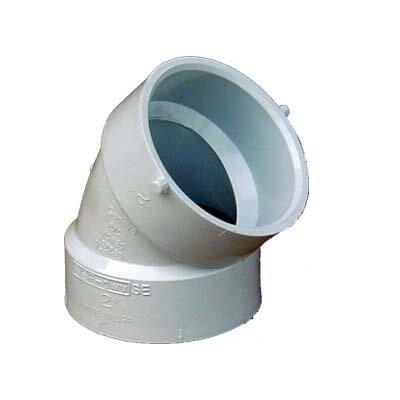 Sch. 40 PVC-DWV 45 Elbows Size: 1.5
