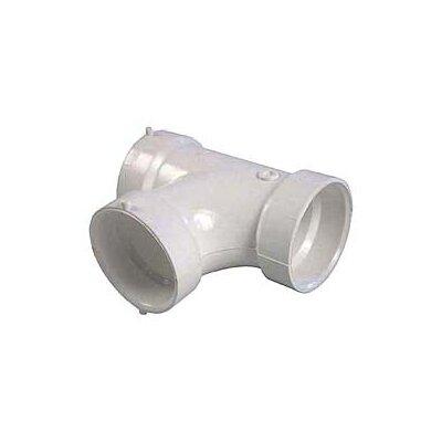 Sch. 40 PVC-DWV Sanitary Tees Size: 4