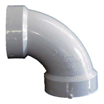 Sch. 40 PVC-DWV 90 Sanitary Elbows Size: 1.5
