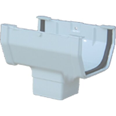 Gutter Drop Outlet Color: Brown