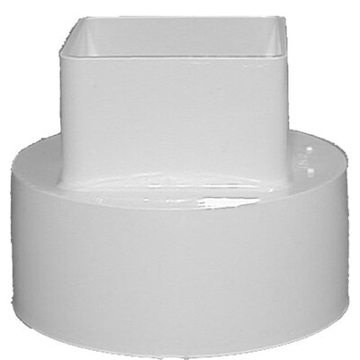 Downspout Adapter Color: White
