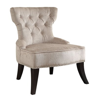 Colton Vintage Tufted Velvet Side Chair Upholstery: Brilliance Parchment Cream