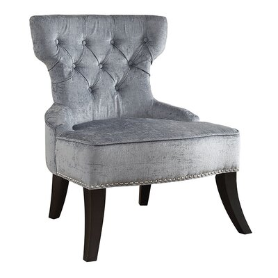 Colton Vintage Tufted Velvet Side Chair Upholstery: Brilliance Sea Blue