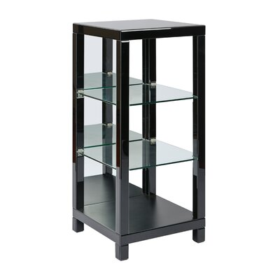 Reflections 3 Shelf Curio 42'' Bookcase Finish: Black Product Picture 8287