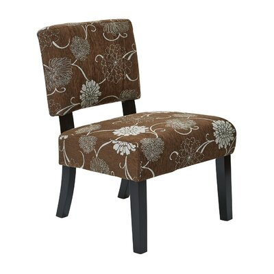 Merkle Floral Side Chair Finish: Chocolate
