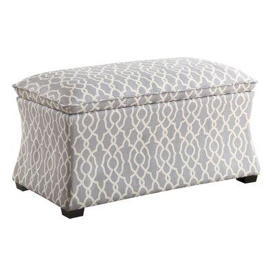 Hourglass Storage Ottoman Upholstery: Grey