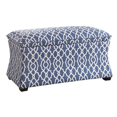 Hourglass Storage Ottoman Upholstery: Blue