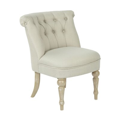 Aubrey Tufted Slipper Chair Upholstery: Rice Paper